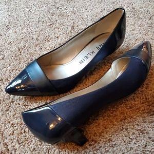 Anne Klein Women's Pointed Kitten Heels, Navy